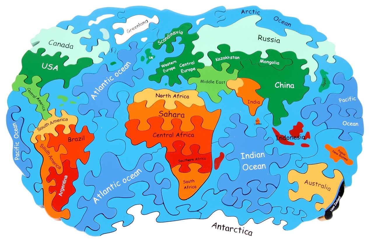 Map of the world jigsaw puzzle gumiabroncs Images